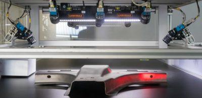 100 Prozent Qualitätssicherung in der Produktion: Xeidana®-Inspektionsanlage des Fraunhofer IWU prüft Bauteile während des Fertigungsprozesses. Neueste Forschungsergebnisse für die Produktion von morgen präsentieren IWU-Forscher zu den virtuellen Messen Intec/Z connect und DiMaP im März 2021.