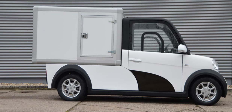 Zu den Anbietern elektrischer leichter Nutzfahrzeuge gehört Ari Motors aus Borna bei Leipzig.