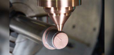 Additive Fertigung eines Werkzeugeinsatzes aus Reinkupfer und Einsatzstahl 1.2764 durch Laserauftragschweißen mit grünem Laser. Neueste Erkenntnisse zur additiven Fertigung mit Kupfer sind ein Thema des Fraunhofer-Forums auf der Rapid.Tech 3D 2021.