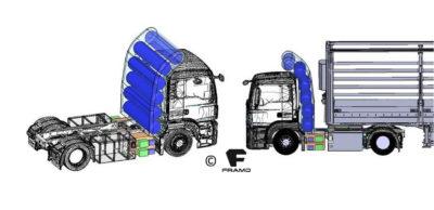 Die auf E-Mobilität für den Schwerlastverkehr spezialisierte Framo GmbH plant noch in diesem Jahr die Vorstellung eines wasserstoffbetriebenen E-Trucks.