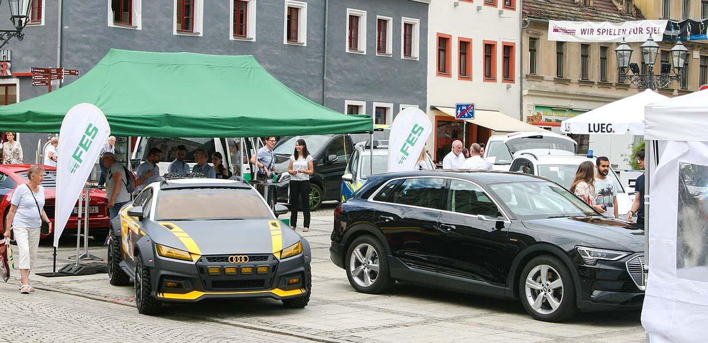 Das ursprünglich für den 10. Juni geplante Symposium Automotive & Mobility SAM ist auf den 7. Oktober 2021 verschoben worden und soll als Outdoor-Veranstaltung auf dem Zwickauer Kornmarkt stattfinden. Das Foto zeigt eine Impression der 2019er Veranstaltung.