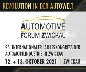 25. Int. Jahreskongress der Automobilindustrie in Zwickau, 12. bis 13. Oktober 2021. Revolution in der Autowelt