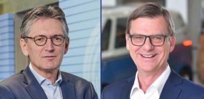 Thomas Edig (r.) folgt auf Dirk Coers als Geschäftsführer Personal und Organisation bei VW Sachsen.