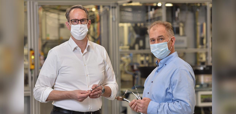 Werkleiter Thorsten Bick und Entwicklungsleiter Aldo Bojarski.