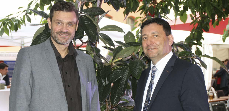 Die Lage der sächsischen Automobilzulieferer sehen Andreas Wächtler (l.) und Dirk Vogel, Leiter des Netzwerks Automobilzulieferer Sachsen AMZ, als schwierige Situation, aber kein Kahlschlag.