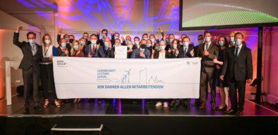 Freude bei den Mitarbeitern des BMW-Werkes Leipzig. Sie haben in diesem Jahr den renommierten Ludwig-Erhard-Preis in Gold gewonnen.