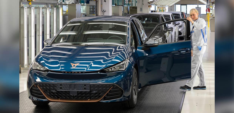 Produktionsstart für den vollelektrischen Cupra Born im VW-Werk Zwickau
