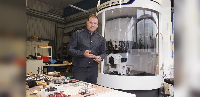 Kolja Trautvetter von Trako-Werkzeuge Aue hat auf der Digitalplattform innovERZ.hub einen Forschungspartner für die Umsetzung einer Innovation gefunden.