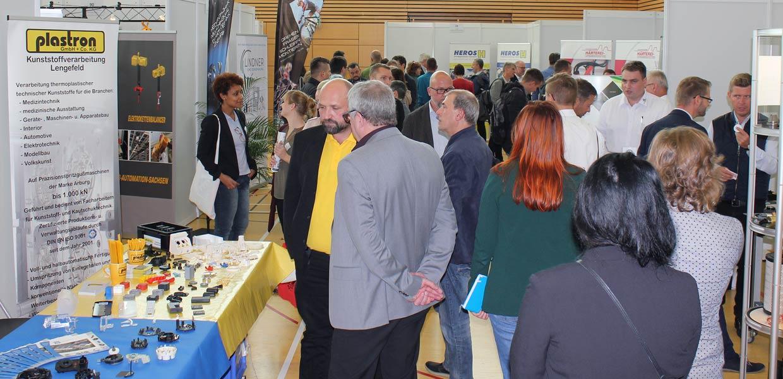 Impression von der letzten Kooperationsbörse Zulieferindustrie Erzgebirge im Oktober 2019. Die 2021er Auflage lädt am 20. Oktober nach Zschopau ein.